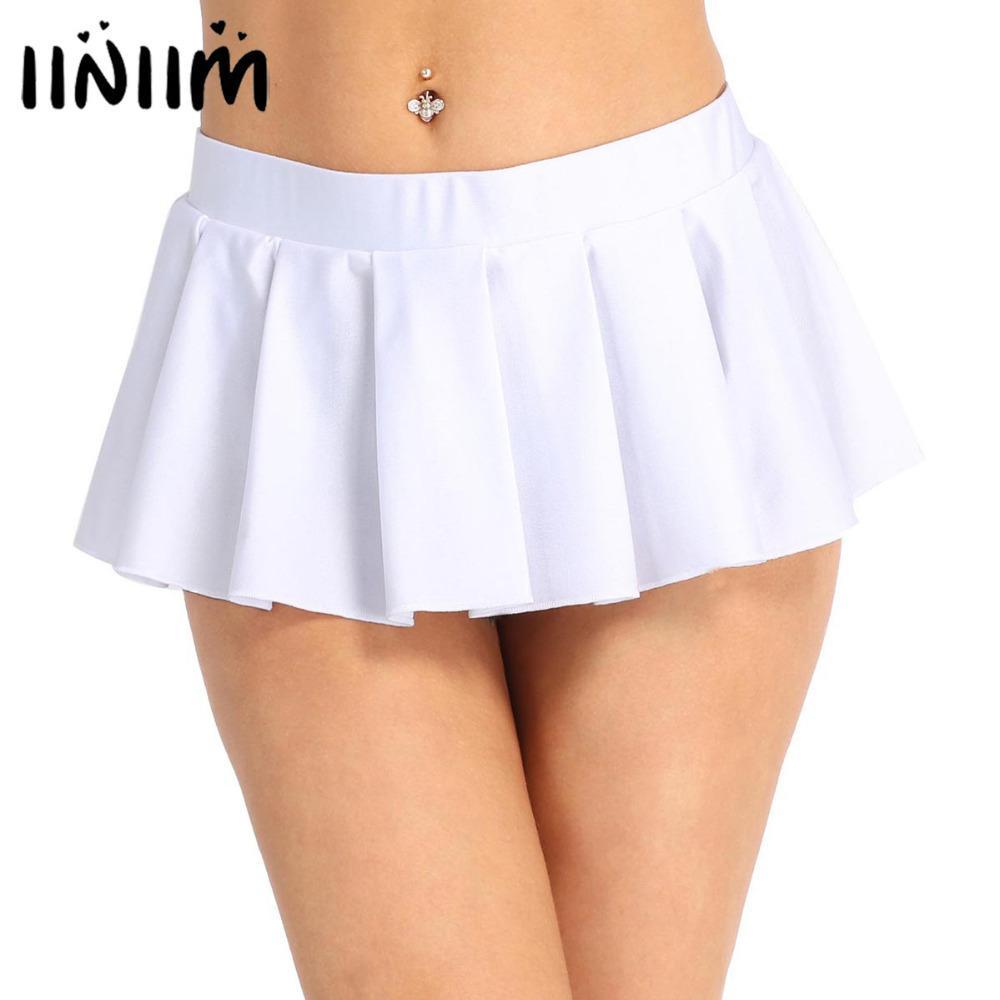 4eb100ed696cb0 Femmes Écolière Basse Taille Confortable Plissée Mini Jupe Party Nightwear  Clubwear Costume Party Performance Sexy Jupes Y1890305