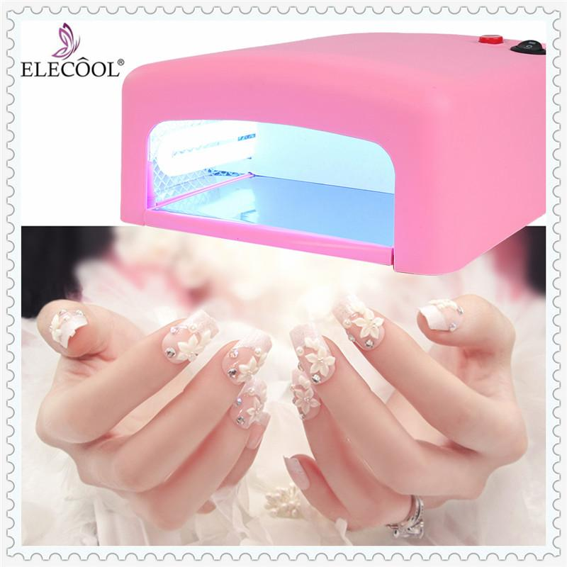 2019 ELECOOL 36W Pink EU Plug UV Gel Nail Polish Dryer Lamp LED ...
