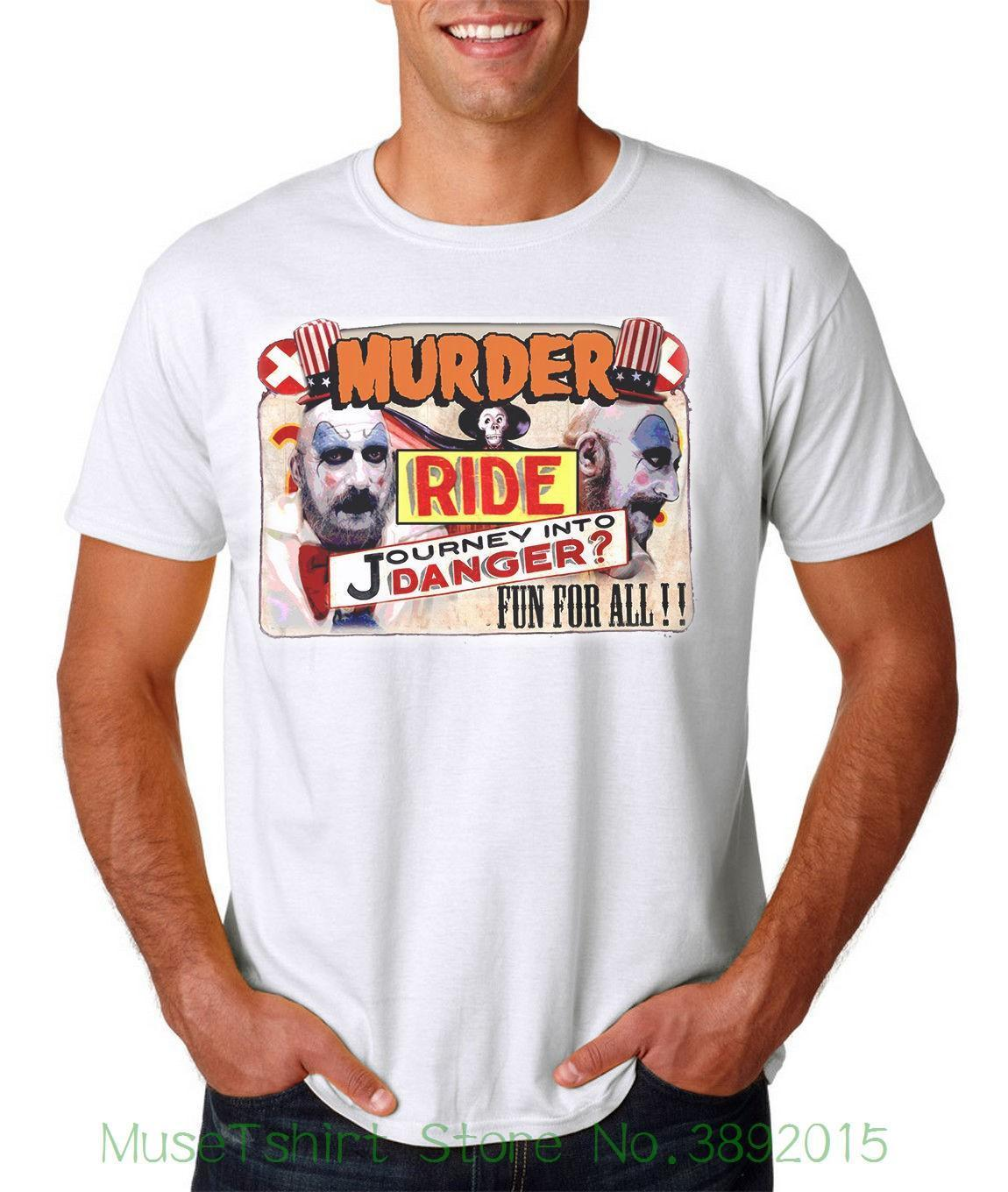 T-shirt Capitan Spaulding Murder Ride - Devils Rejects Rob Zombie Halloween T-shirt in maglia da uomo