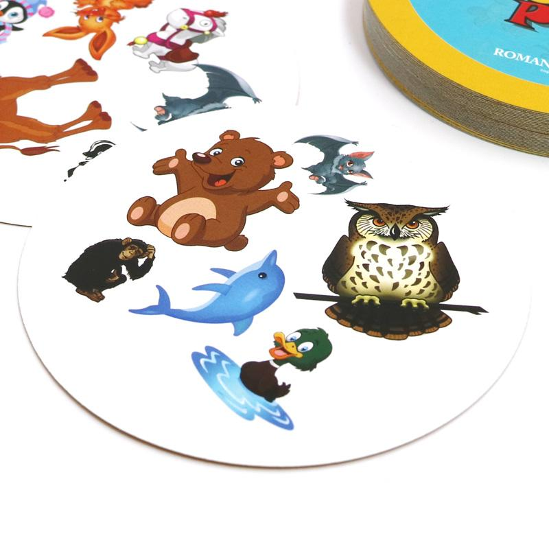 ROMANCARD hot spot flash pair animals cat dog it suitable for kids family home party card game board games