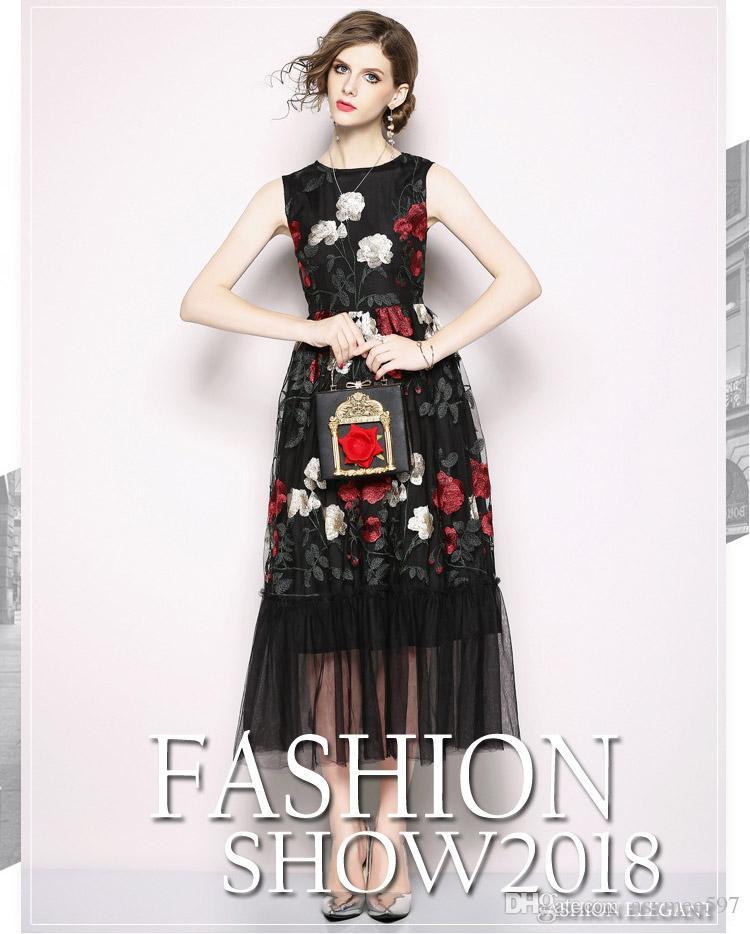 56952621e3f7 Mesh Cotton Materials Blending Summer Dresses