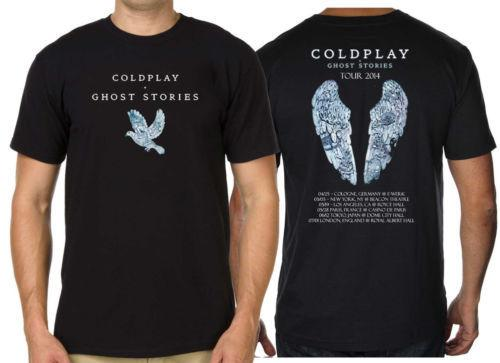 eb85c70c7 Compre Cool Funny Camisetas Corto Coldplay Ghost Stories ...