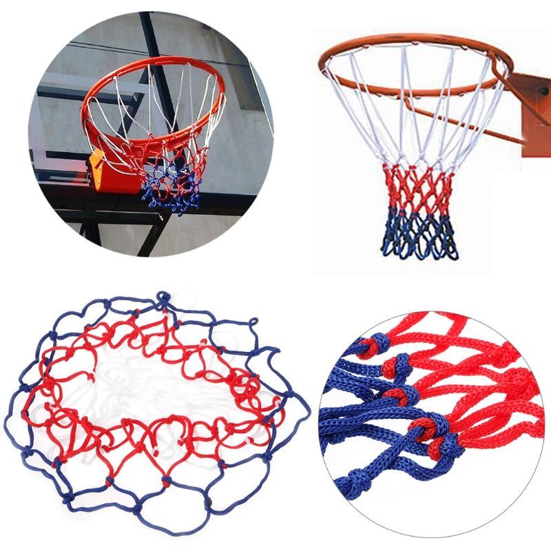 عالمي 5MM أحمر أبيض أزرق كرة السلة صافي النايلون هوب حافة مش شبكة