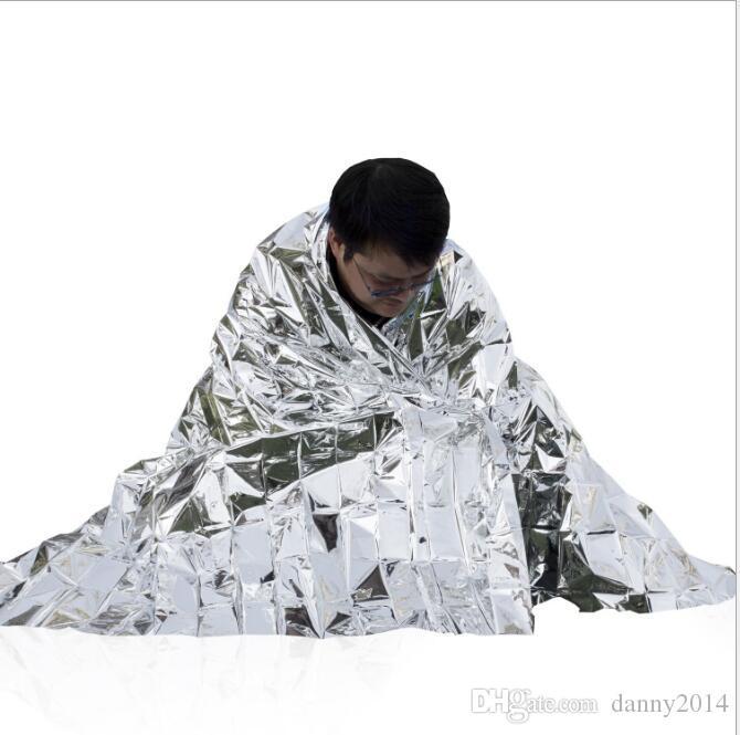 Многофункциональный открытый колодки кемпинг водонепроницаемый аварийного выживания изоляции фольги тепловой первой помощи спасения одеяло реагирования на стихийные бедствия инструмент
