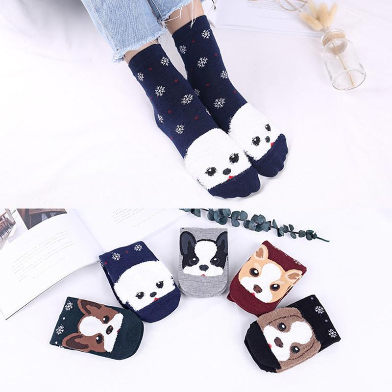 4ff95c451 2019 PEONFLY Unisex Women Men Kids Lovely Dogs Socks Cute Cartoon Style  Cotton Printing Tube Socks Floor Meias From Honhui