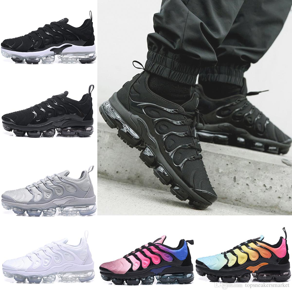 cheap sale with paypal 2018 NEW Mens Vapormax TN Plus Casual Shoes For Men Women Triples White Black Silver Oreo Designers Walking Jogging shoes US 7-12 fashion Style online osuFxkYW