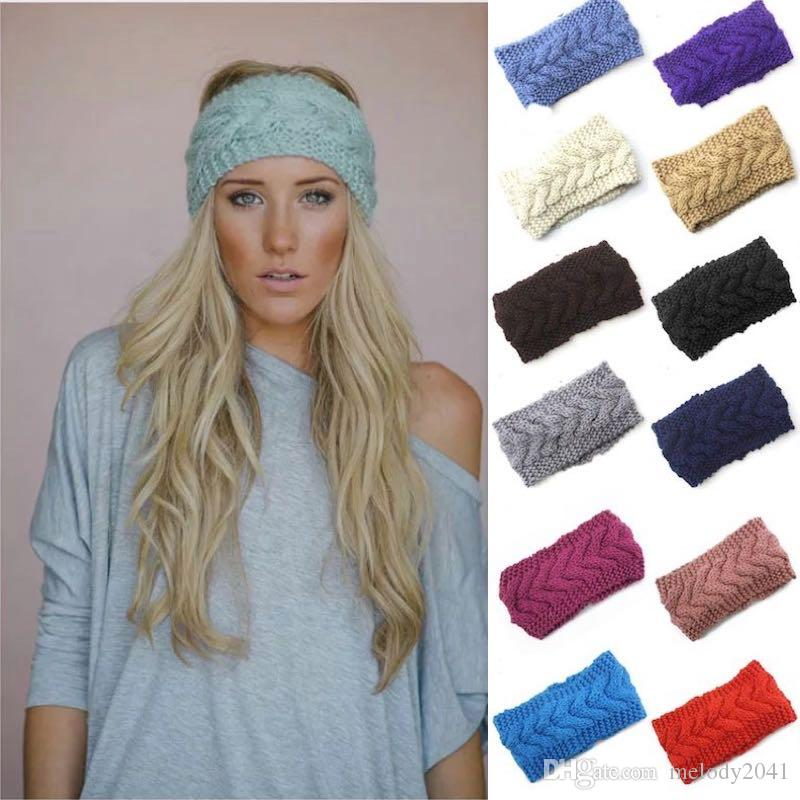 Knitted Women Hats Autumn And Winter Warm Ear Crochet Thick Knitting