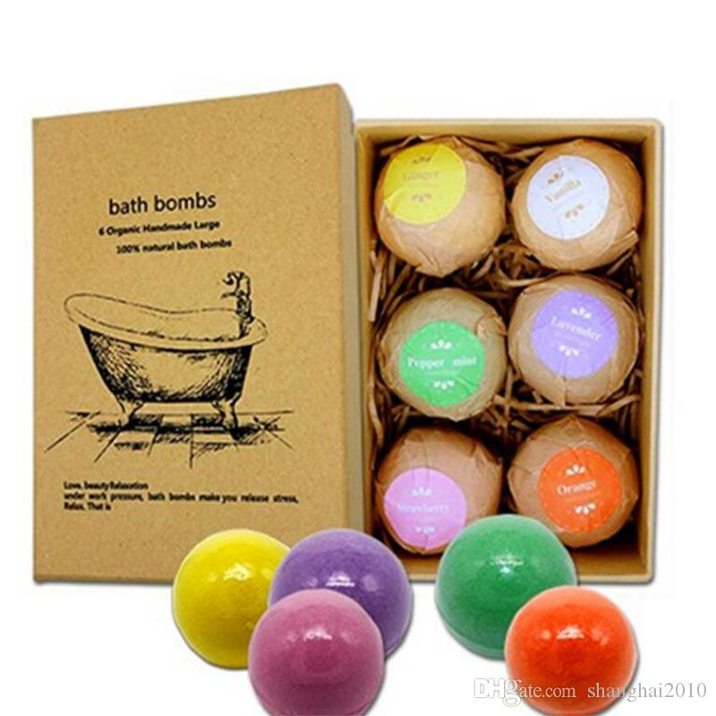 Schaumbad Bomben Geschenkset Rose Kornblume Lavendel Oregon ätherische üppige Fizzies duftende Meer Salze Bälle handgemachte SPA Geschenk 60g