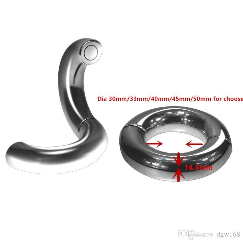 Мужской пенис кольцо магнитная нержавеющая сталь мошонка бондаж вес мяч носилки кольца для взрослых CBT игрушка для мужчин