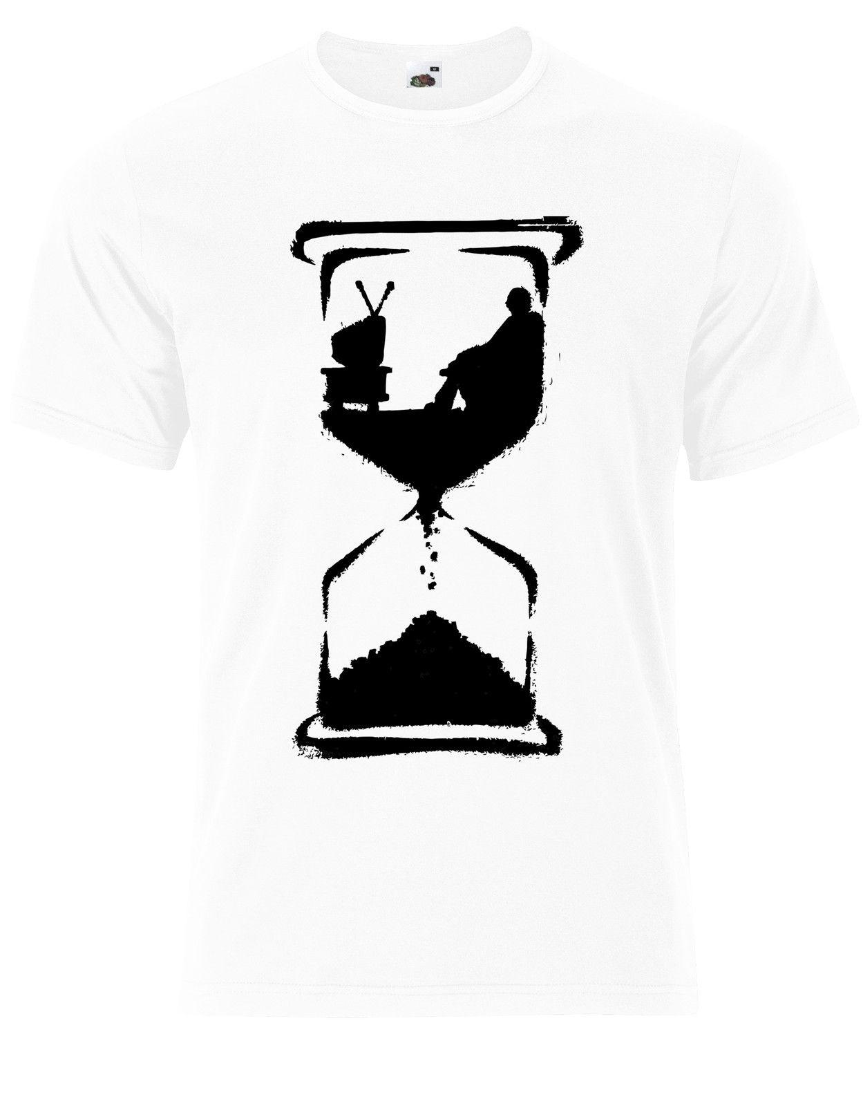Remarkable Couch Potato Wasting Time Hourglass Street Art Mens Back Tshirt Tee Top Ag77 Caraccident5 Cool Chair Designs And Ideas Caraccident5Info