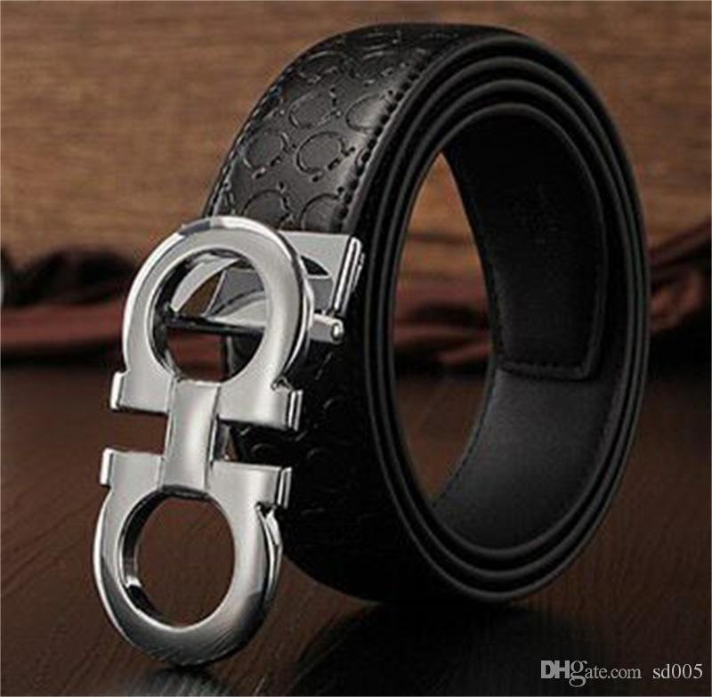 Criativo Cinto De Couro Para Os Homens Fashione Mbossing Cintura De Metal Automático 8 Em Forma de Fivela Projeto Cinturão De Couro Das Mulheres Nova Chegada 15zl Y