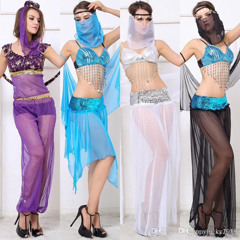 304ac25a53 2019 Indian Dance Costumes Sexy Adult Women Nightclub DS Stage Performance  Clothes Exercise Clothes Belly Dance Costumes Suits From Cc1986, $16.59 |  DHgate.