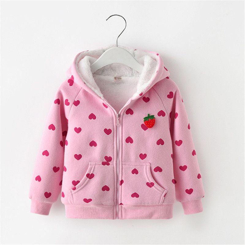 b1db4fa90 2019 Children Girls Hoodies Outwear Kids Girls Cartoon Sweatshirts Jackets  Autumn Winter Thick Warm Coat For Girls Outfits From Fengyang1101, ...
