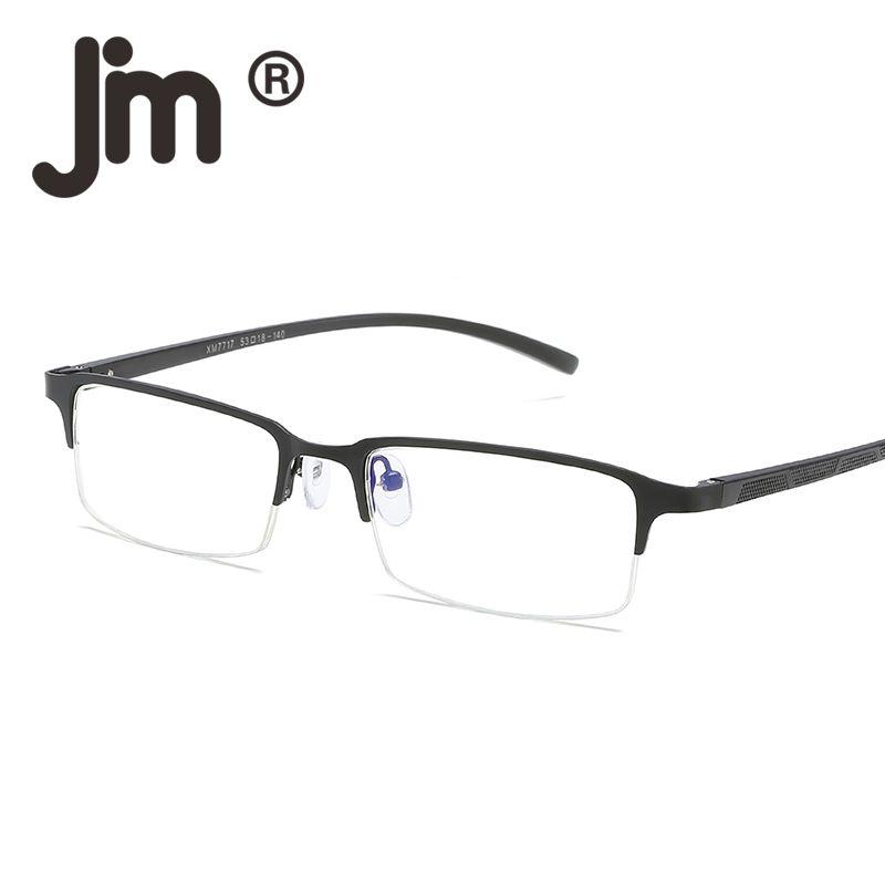 037748cc7e7 JM Computer Reading Glasses Anti Block Blue Light Spring Hinge Half Frame  Metal Gaming Eyeglasses Reduce Digital Eye Strain Prescription Sunglasses  Online ...