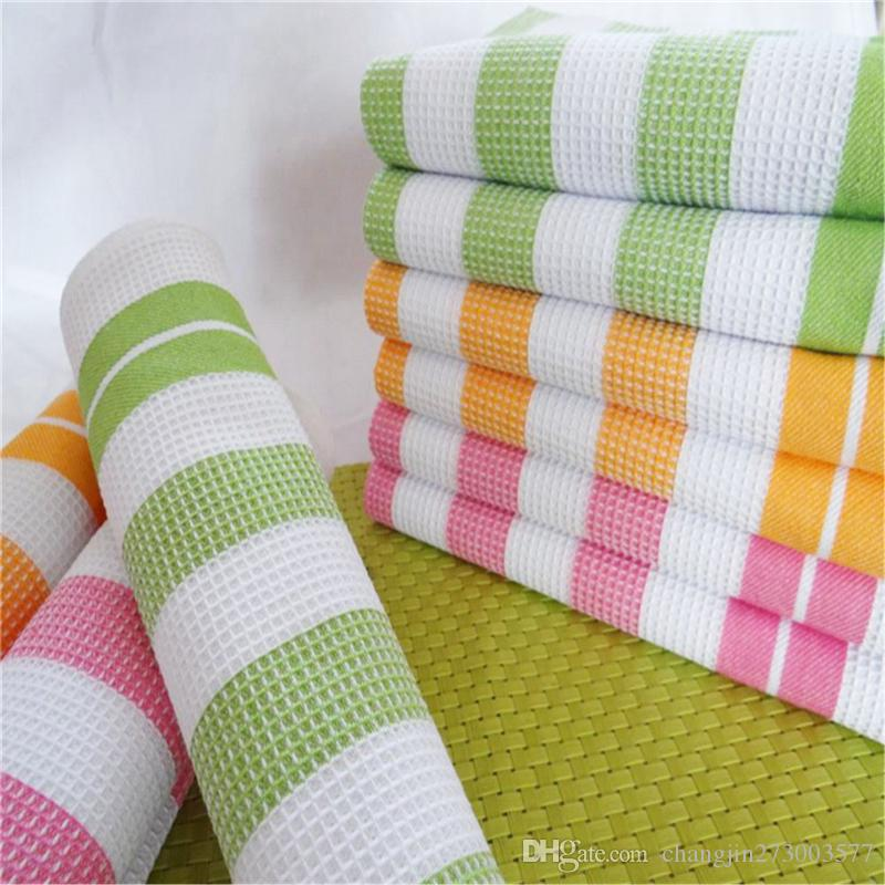 Parcel post thickened cotton yarn-dyed striped kitchen towel cloth art napkin tea towel 50*70cm