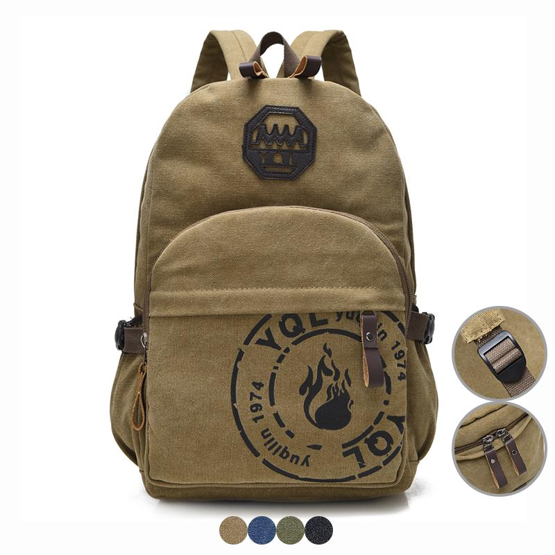 Men Canvas Backpack Vintage Style School Bag For Teenage Boy Girl 15.6  Laptop Bag Casual Travel Bag Back Pack Women Bagpack Cool Backpack Brands  Rucksack ... ba65115aa7b48