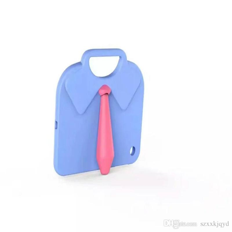 Últimos modelos Soporte de la camisa Niños lindos a prueba de golpes EVA Minion cubierta de la caja para iPad mini 1/2/3 Volver caso