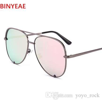 4ec6a43b4 Gun Pink Sunglasses Silver Mirror Metal Sun Glasses Brand Designer Pilot Sunglasses  Women Men Shades Top Fashion Eyewear Lunette Sunglasses Brands Best ...