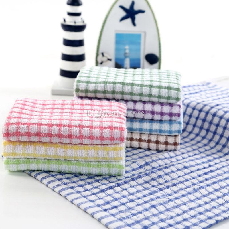 2018 Kitchen Dish Towels Cotton Soft Microfibre Double Sided Absorbent Non Stick Oil Wash Bowl Cleaning Cloth From Tree988 0 94 Dhgate