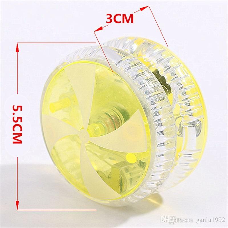 Plástico LED YoYo Multi Color Light Up Finger Spinning YoYo Niños Juguete Regalo 1 4zp C R