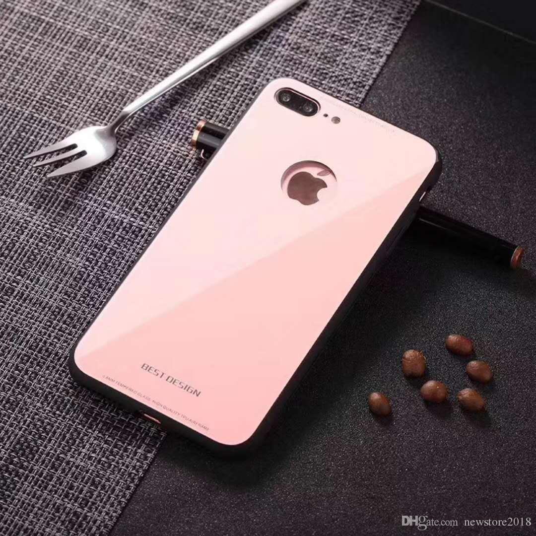 0bfa3101b50 Fundas Para Celulares Personalizadas Nuevo Diseño De Cristal Candy Color  Piel Del Caso Para El IPhone 8 Plus X 7 6S 6 Cubierta Inferior Precio U341  Fundas ...