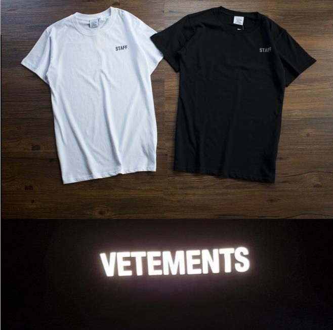 a1a1310a0550 Best Version 18ss Vetements Staff 3M Reflector Letters Logo Printe T Shirts  Tees Hiphop Streetwear Short Sleeve Men Cotton T Shirt T Shirt A Day Retro  Tee ...