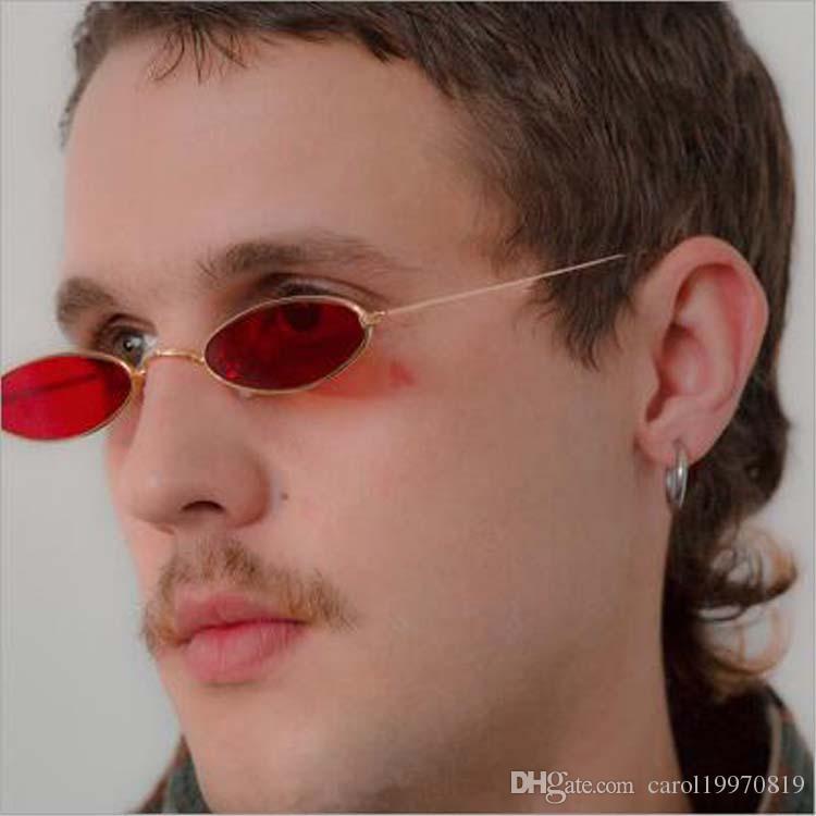 Compre Vintage 90 S Oval Estreito Mulheres Óculos De Sol Dos Homens  Pequenos Óculos Ao Ar Livre Vermelho Amarelo Preto Lente Óculos De Sol De  Carol19970819, ... 81996c9176