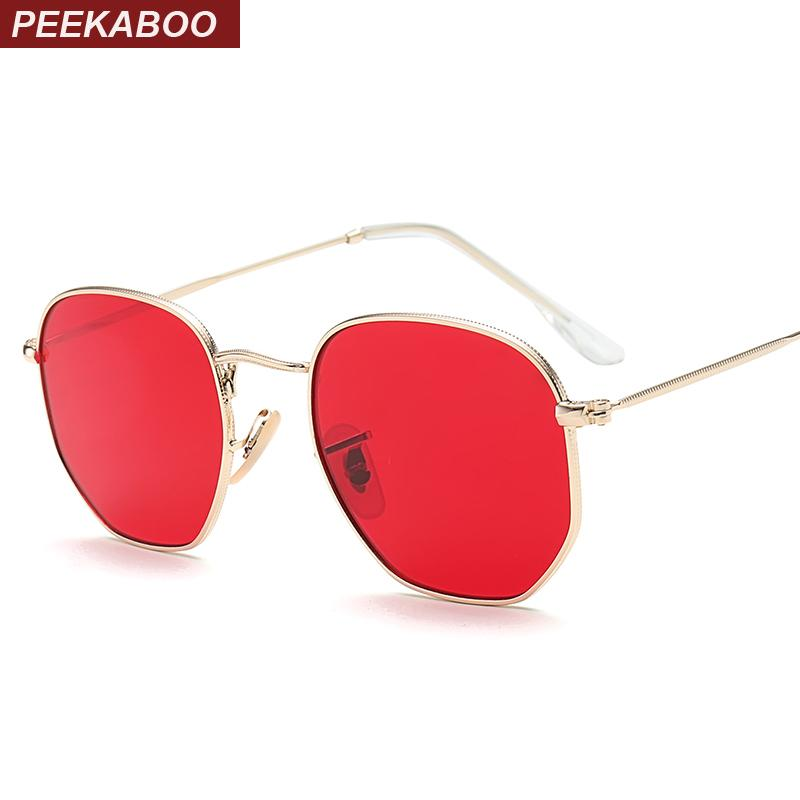 089d5ab5a9d1 Peekaboo Small Square Sunglasses Men Gold Thin Metal Frame Blue Green  Tinted Red Sun Glasses For Women 2017 Heart Shaped Sunglasses Mirrored  Sunglasses From ...