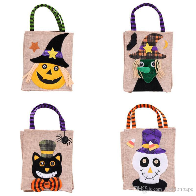 2019 Halloween Candy Bags For Children Pumpkin Witch Gift Bags Party