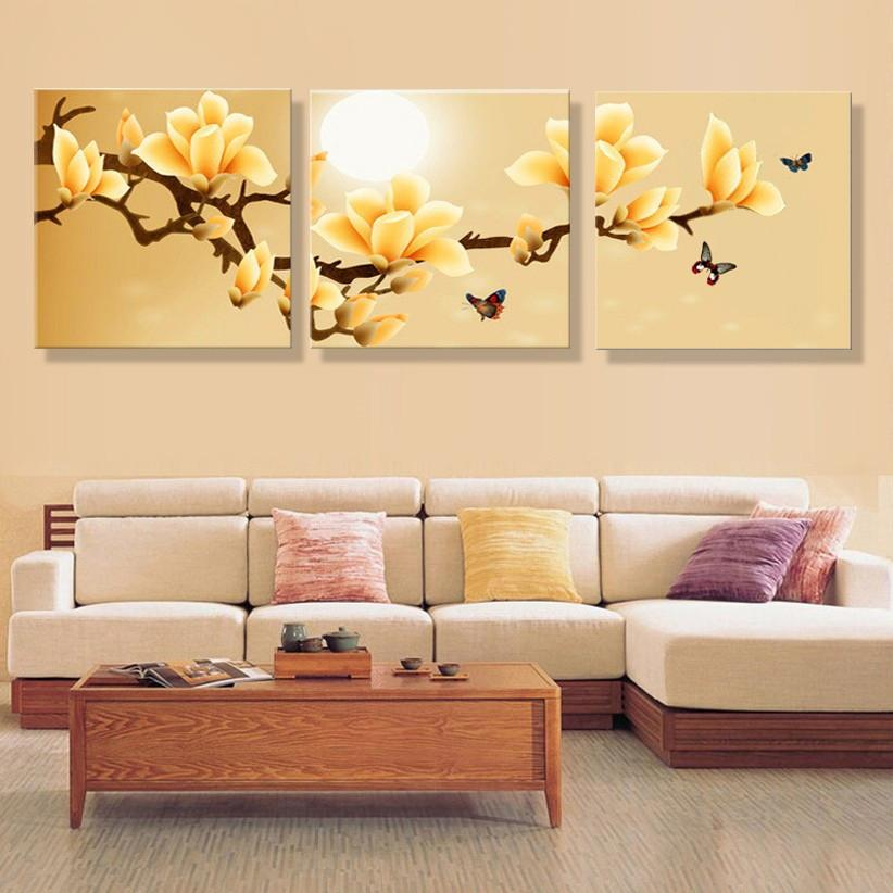 Poster Canvas Wall Art Orchids Decoration Art Oil Painting Modular ...