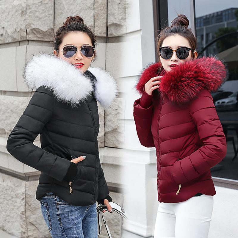 893a07160088e 2019 Winter Coat Women Winter Jackets Women 2018 Female Coat Hooded Slim  Outwear Woman Short Parkas Faux Fox Fur Cotton Padded Y1891802 From Tao01