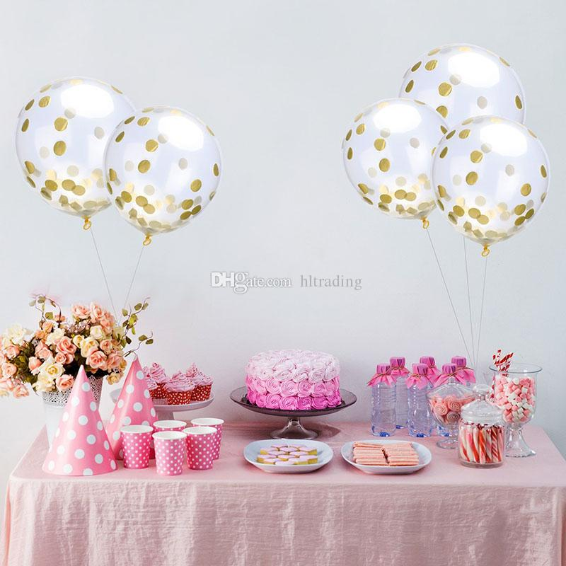 12 inches Sequins Filled Clear Balloons Novelty Kids Toys Beautiful Birthday Party Wedding Decorations 8 styles C4318