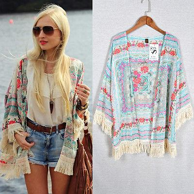 6bc30121b 2019 Retro Boho Floral Lace Cardigan Tassel Hippie Kimono Top Blouse New  Summer Beachwear Cover Up From Zhang110119, $10.44 | DHgate.Com