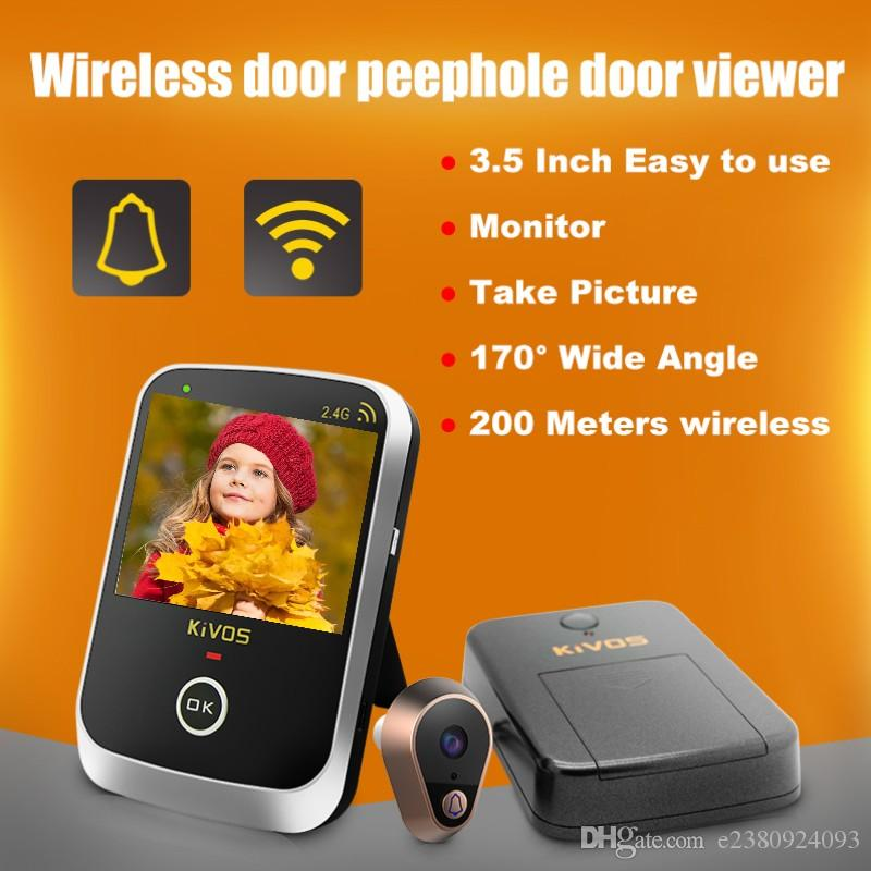 2018 Hot Sale Kdb307a Wireless Door Eye Peephole Door Viewer Wireless Video Doorbell Camera With 3.5 Inch Monitor For Home Apartment Ann From E2380924093 ...  sc 1 st  DHgate.com & 2018 Hot Sale Kdb307a Wireless Door Eye Peephole Door Viewer ...