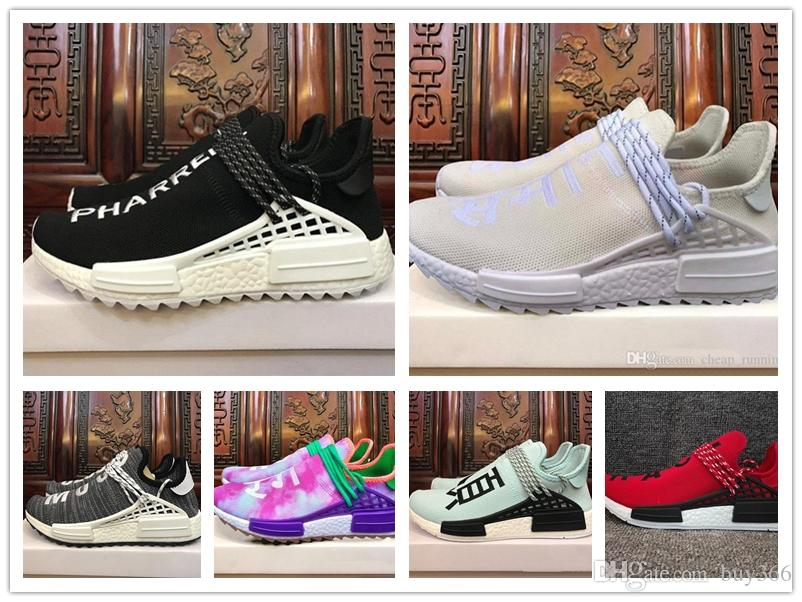 7e9523e03 2018 Black Purple Equality Human Race Runner Shoe Respira Holi Nerd Colette  Running Shoes HU Blank Cream Williams Pharrell Sport Sneaker Men Sports  Shoes ...