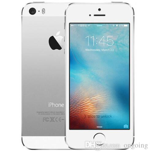 Refurbished iphone 5s IOS 11 system Apple iPhone5S Unlocked Mobile Phone  Apple A7 4 0inch 16G 32GB 64G Without Finger print