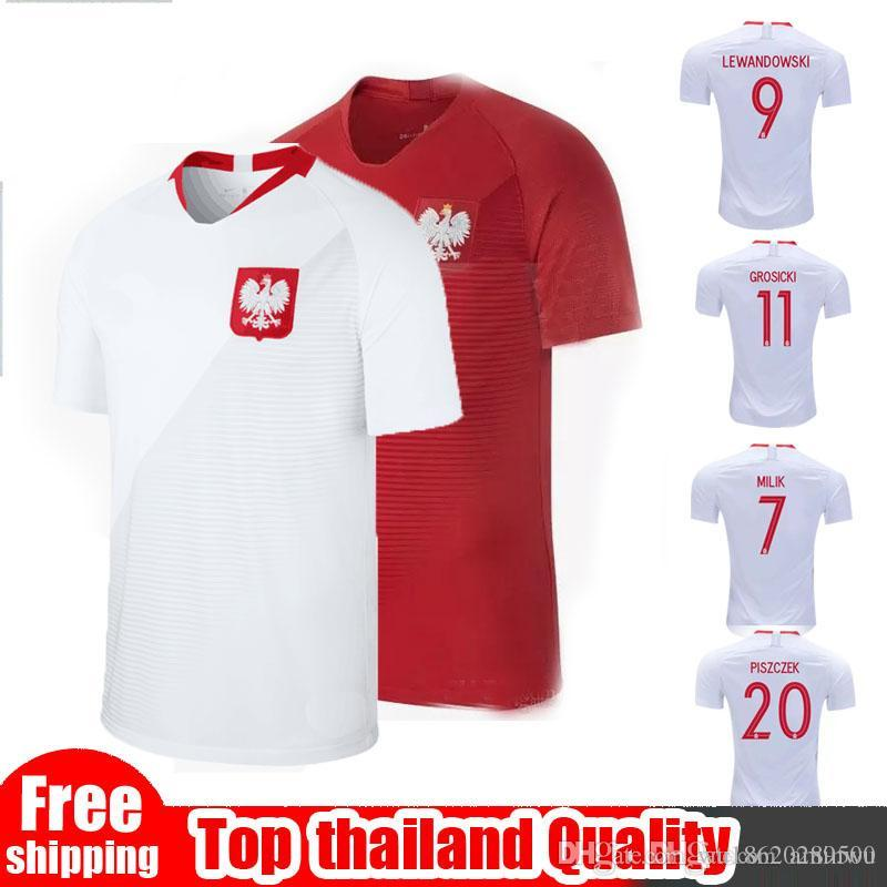 Size S-xxL World Cup National Poland Soccer Jerseys Lewandowski 9 ... 9400f6258a