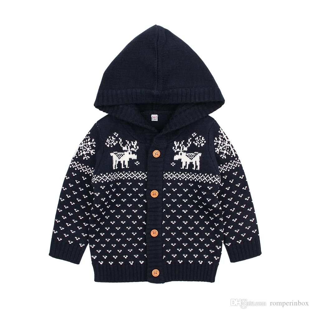 Großhandel Baby Pullover Mädchen Jungen Stricken Weihnachten Rentier
