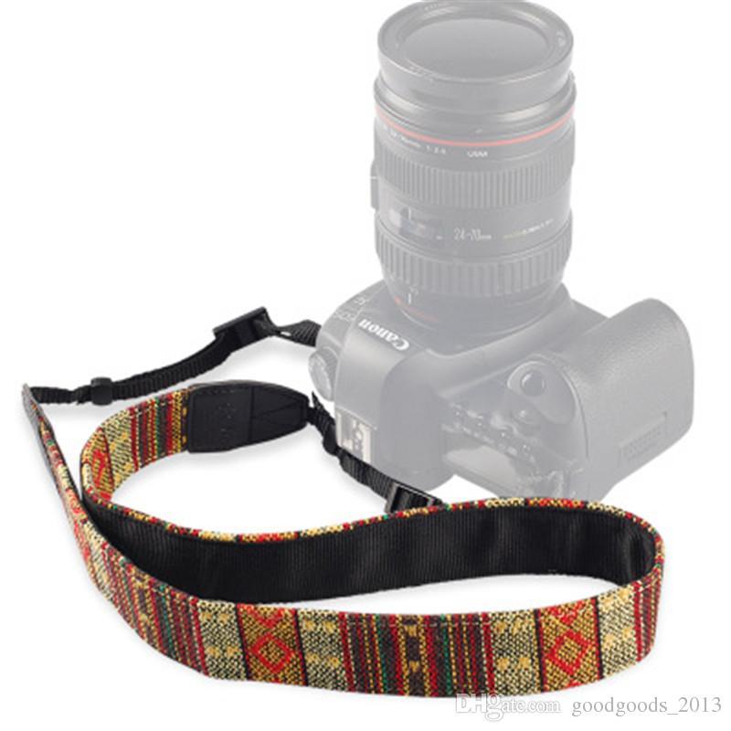 Colorful Vintage Style Canvas Camera Shoulder Neck Strap Belt for Nikon Canon Sony DSLR Camera z192