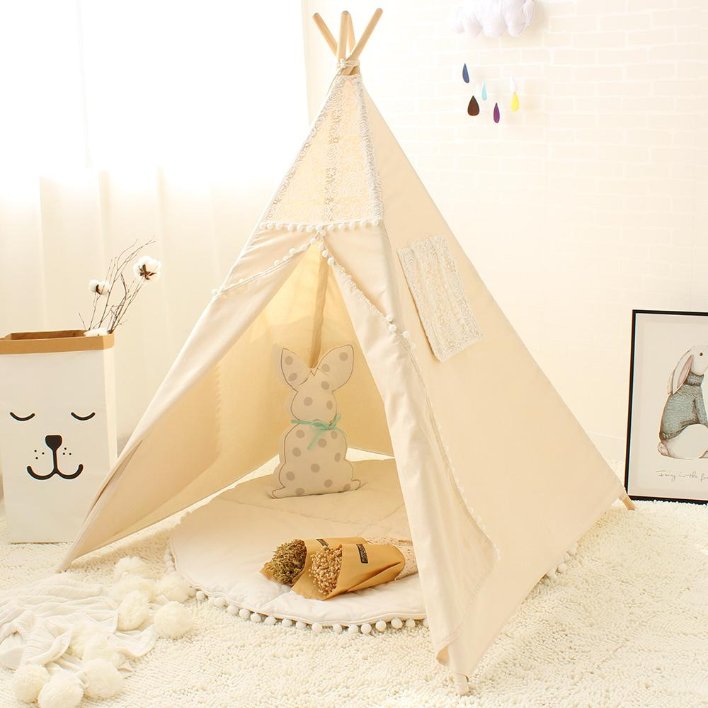 gro handel spitze tipi zelt f r kinder indische baumwolle tipis f r kinder spielhaus faltbare. Black Bedroom Furniture Sets. Home Design Ideas