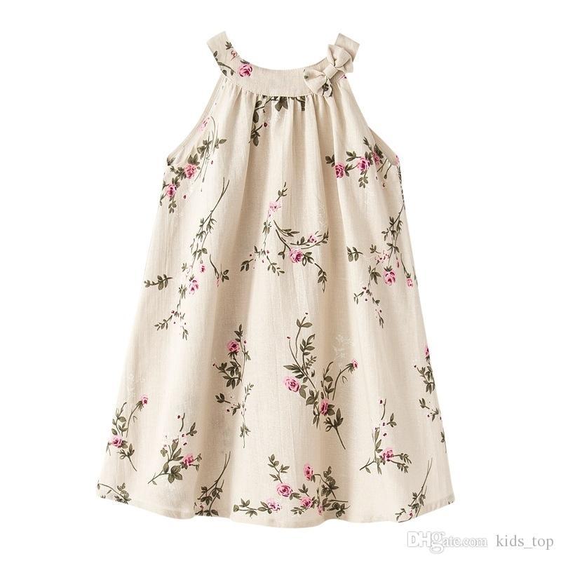 b85f5df07 Compre Vestidos Para Bebés 12 Meses 7 Años Vestidos De Verano Para Niñas  Vestidos De Niña De Flores Vestido Tutu Ropa Para Niños LA662 2 A $7.8 Del  Kids_top ...
