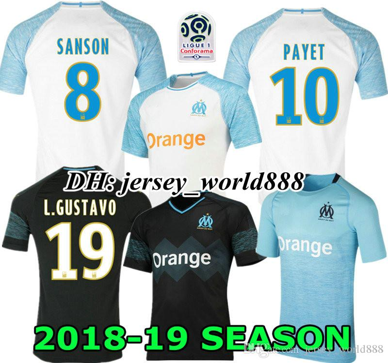 5832a5a56c2 2019 TOP 19 20 Olympique De Marseille White Home 3RD Soccer Jersey Thai  Quality GOMIS Away Black 2019 2020 Marseille Football Shirt PAYET SANSON  From ...