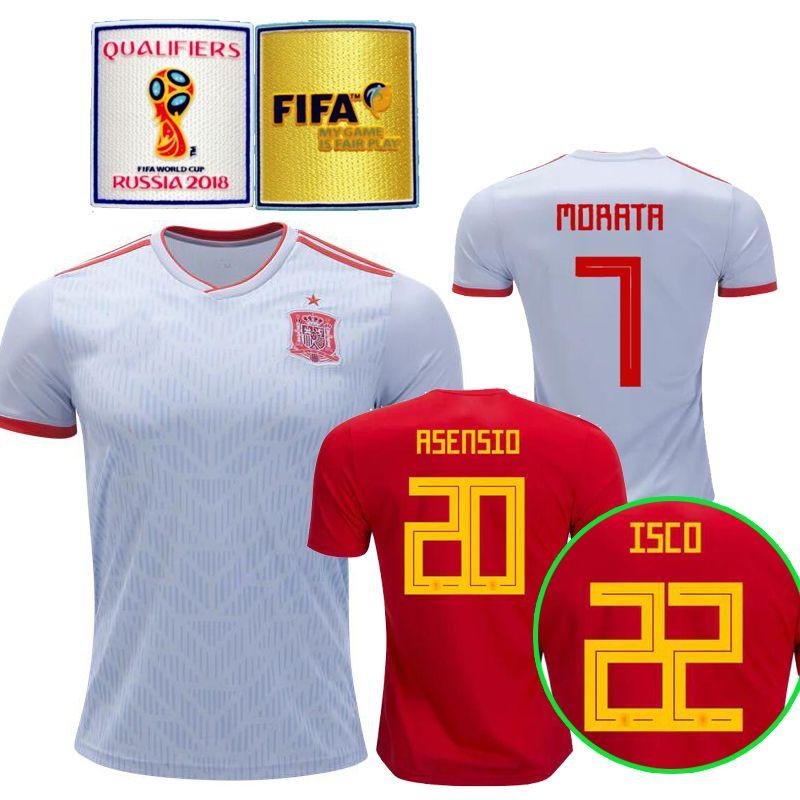 69c646bf1 Thailand Camisetas De Futbol ASENSIO MORATA ESPANA Spain Soccer ...