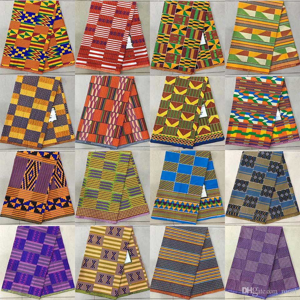 ankara style kitenge fancy wax african kente print fabric tribal