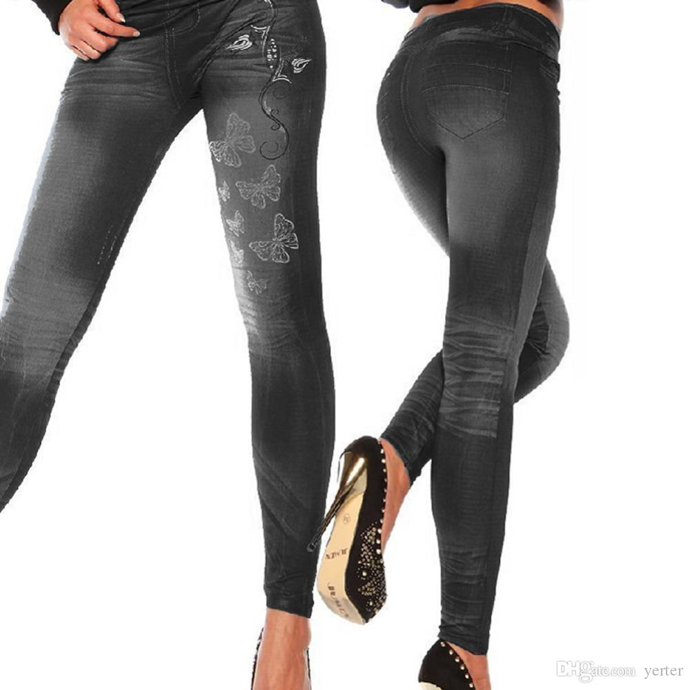 dd0094f41bd Classic Stretchy Slim Leggings Sexy Women Jean Skinny Jeggings Skinny Pants Slimming  Leggings Jean Skinny Jeggings Leggings Sexy Online with  30.18 Piece on ...
