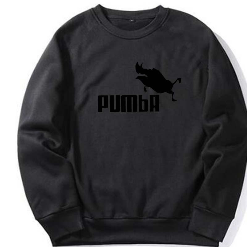 f6a2f26702b 2018 Winter Men s Hoody Simba Pumba Hooded Sweatshirt Streetwear ...