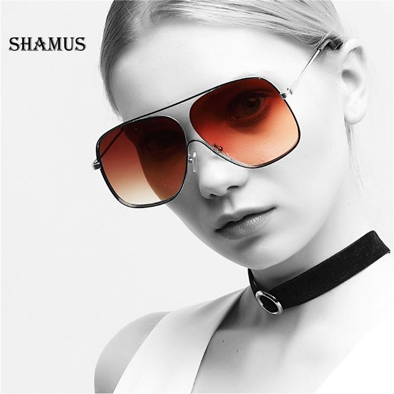 Großhandel Shamus Oversized Metall Sonnenbrille Frauen Marke ...