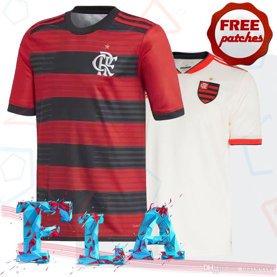 ac3d34469502e 2019 Top Thai Quality Clube De Regatas Do Flamengo 2018 2019 Home Away  Soccer Jersey GUERRERO DIEGO VINICIUS JR Flemish Camisa De Football Shirts  From .
