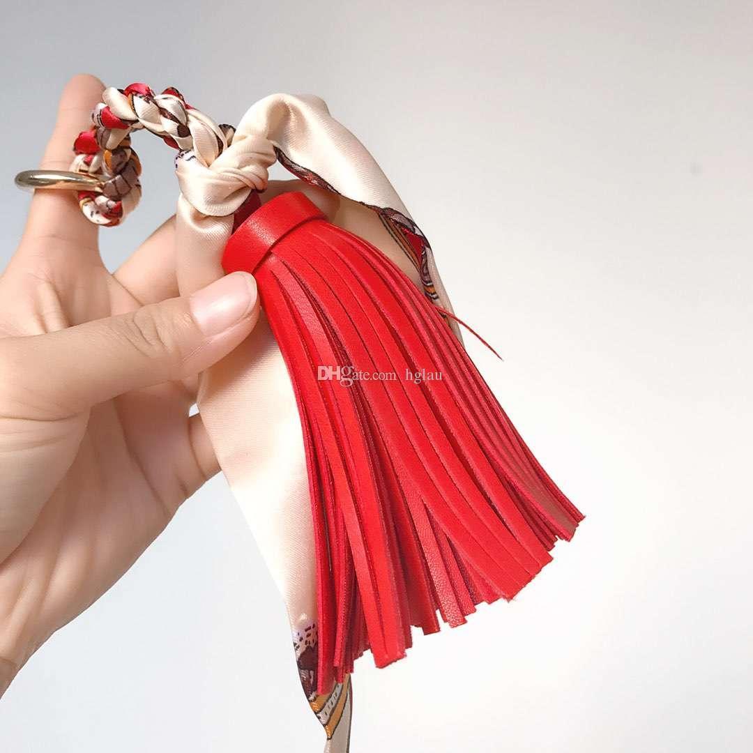 2018 Мода пакет кисточкой кулон горячей продажи мини шелковый шарф с кожаными украшениями женские сумки должны быть согласованы