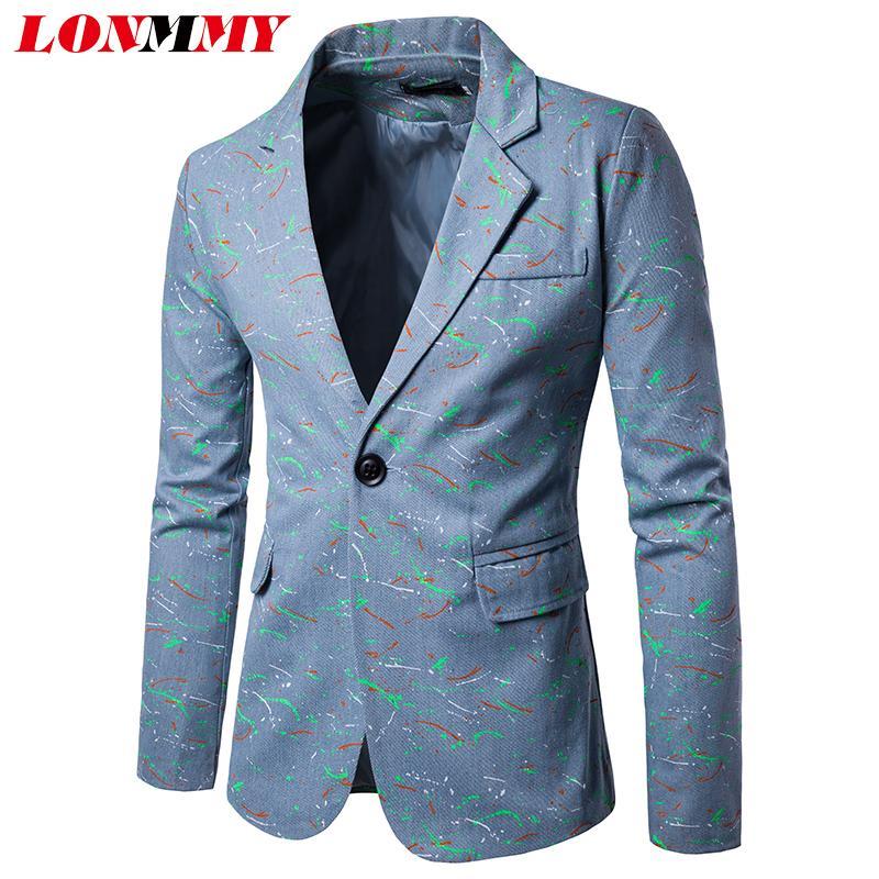 Compre Colorido Lonmmy Desgaste Formal Blazer Chaqueta Hombres qr0qC